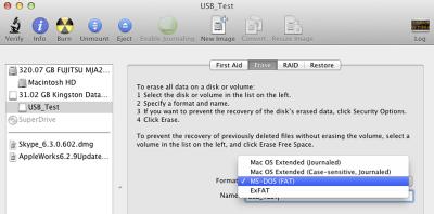 formatere usb på mac