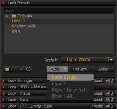 Look Presets and Management